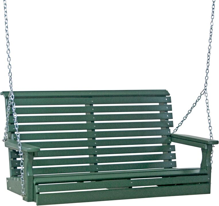 4' Plain Rollback Poly Swing in Green - $469.00 in Standard Colors + Shipping