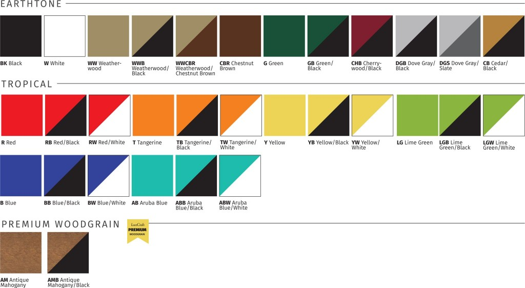 Any Poly Item Is Available In These Color Choices!